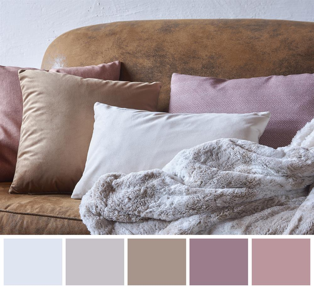 Combinación de colores en cojines - Colores neutros