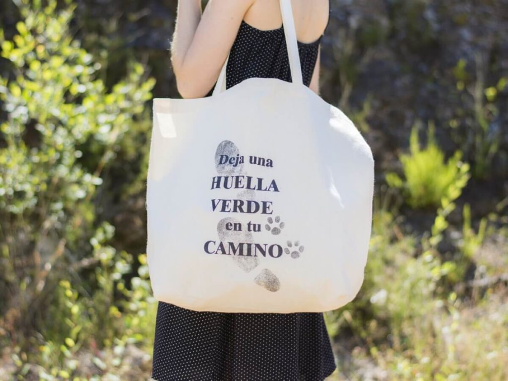 El uso de bolsas de tela contribuye a un hogar Zero Waste